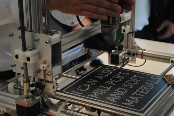 This 3d printer can work as a CNC mill